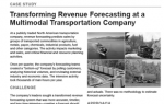 Transforming Revenue Forecasting at a Multimodal Transportation Company