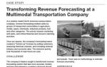 Transforming Revenue Forecasting at a Multimodal Transportation Company