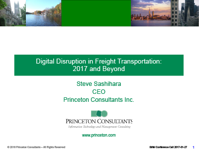 Digital Disruption in Freight Transportation: 2017 and Beyond