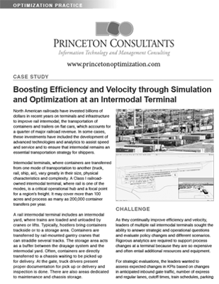 Case Study: Boosting Efficiency and Velocity through Simulation and Optimization at an Intermodal Terminal
